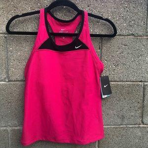 NIKE Dri-Fit Pink Running Tank Top Shirt SZM NWT
